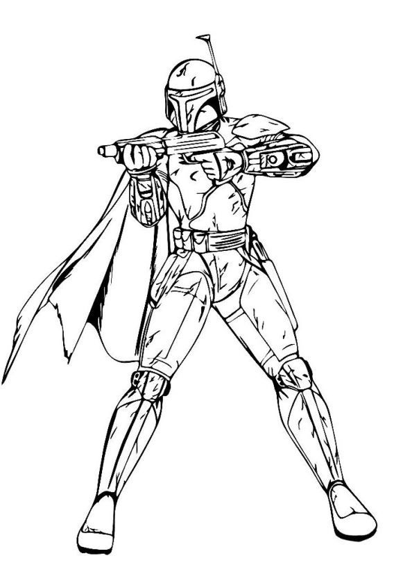 Kids N Fun Ausmalbild Star Wars The Force Awakens Boba Fett Star Wars Coloring Book Star Wars Drawings Star Wars Coloring Sheet