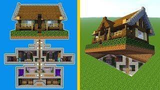 Minecraft: How to Build A Modern Secret Base Tutorial - (Hidden