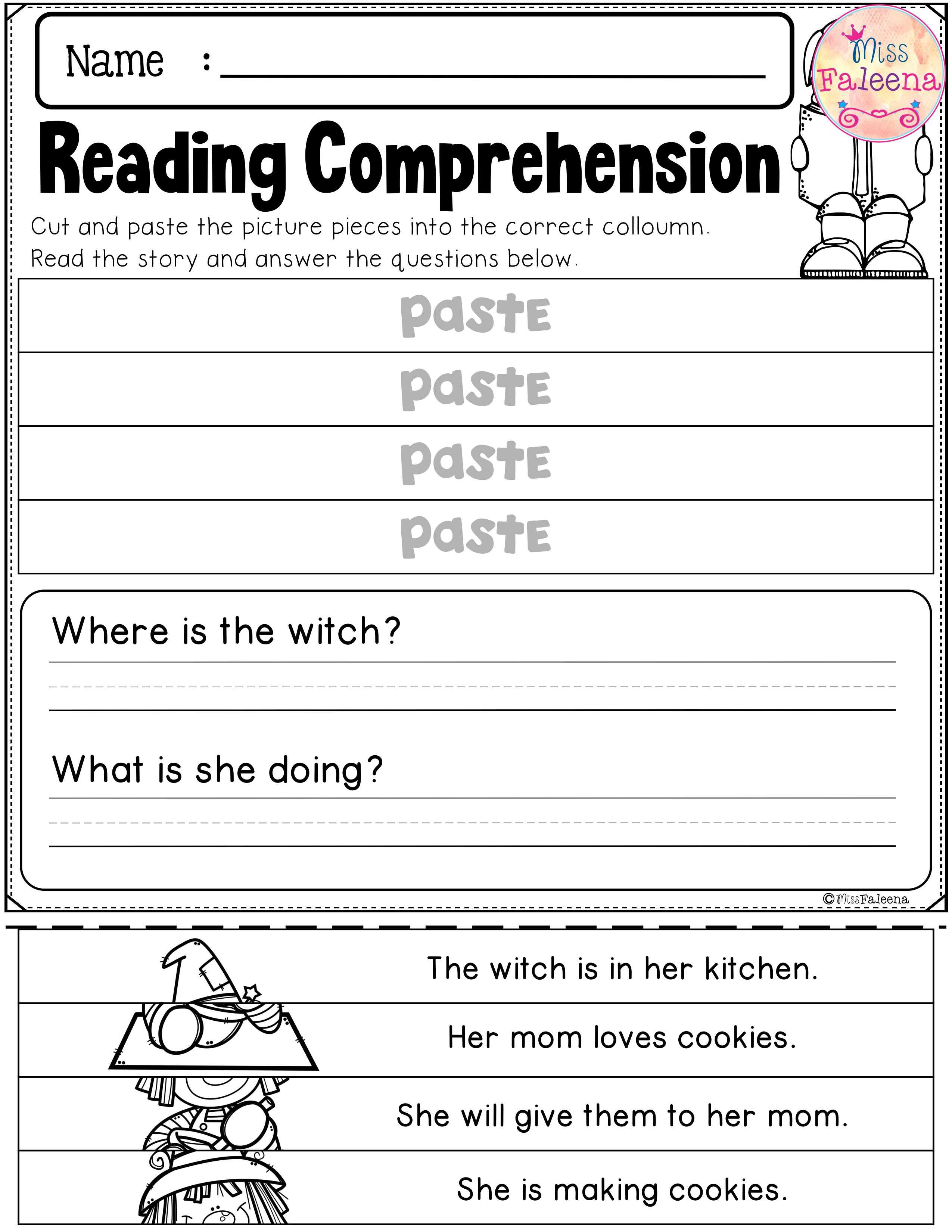 Fall Reading Comprehension Puzzles