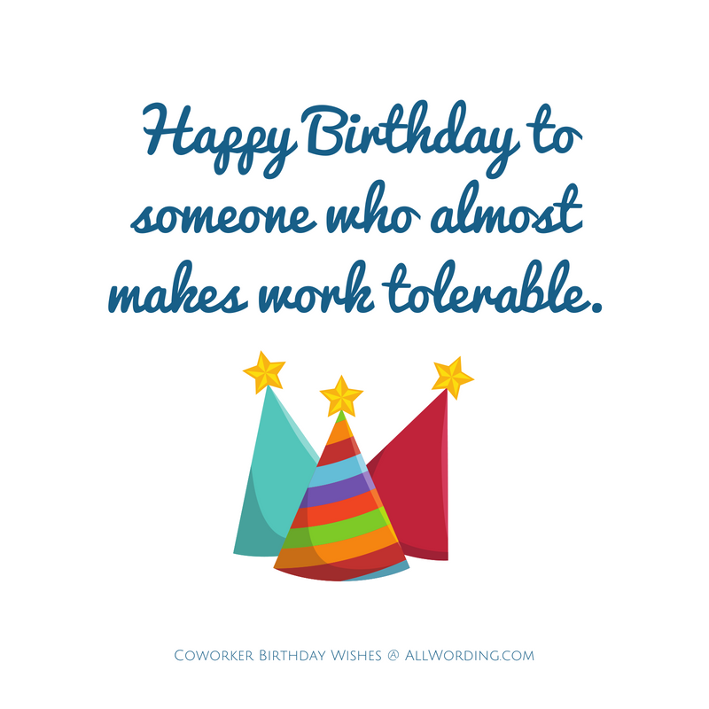 How to Say Happy Birthday to a Coworker Funny birthday