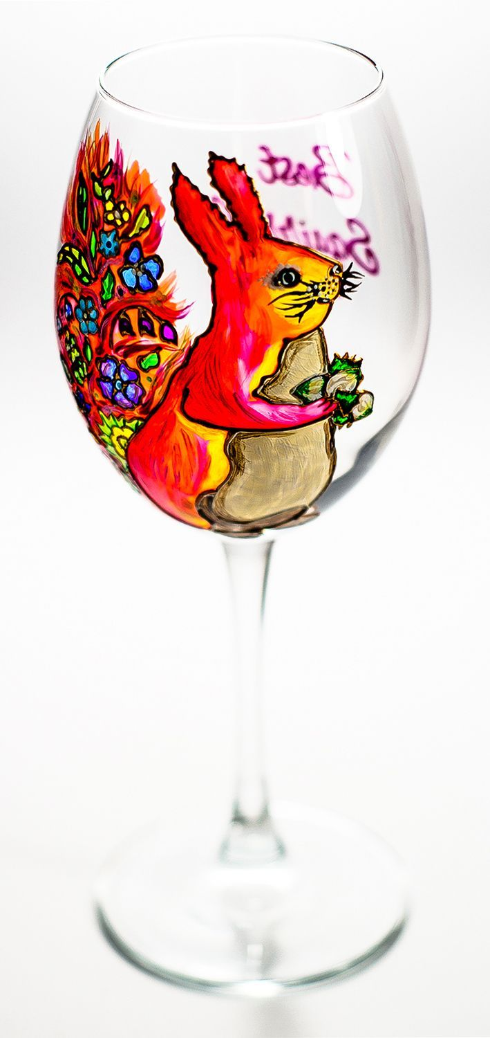 Woodland Wedding Favor #Wine Glasses Personalized #Squirrel Gift ...