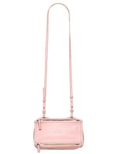 eb24bcb5db GIVENCHY MINI PANDORA GRAINED LEATHER BAG light pink Luxury Shop, Fashion  Bags, Leather Bag