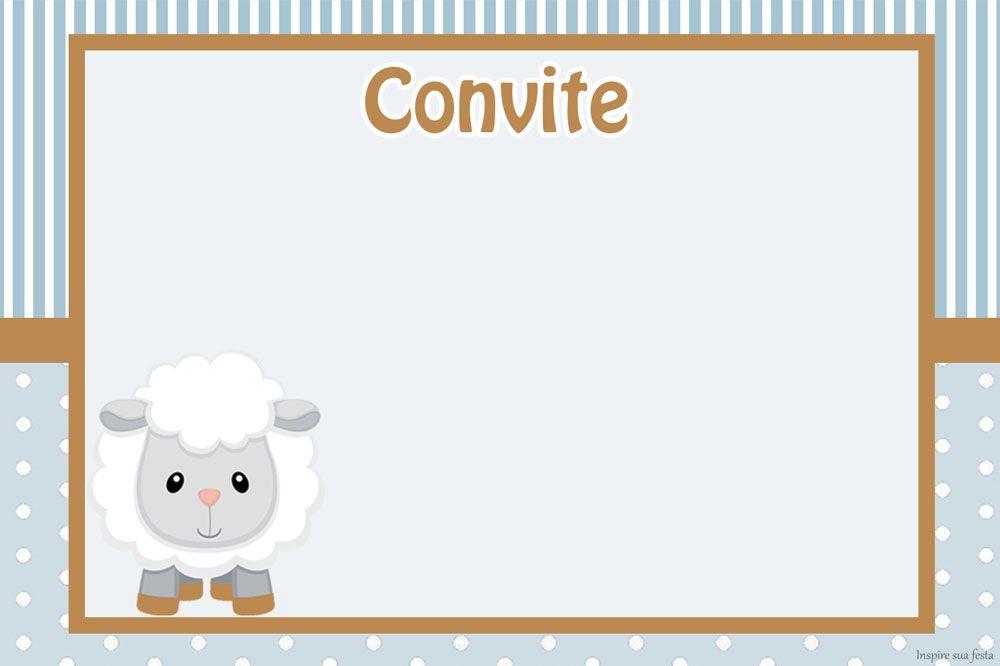 Ovelhinha Meninos Kit Festa Grátis Para Imprimir Baby Lambs