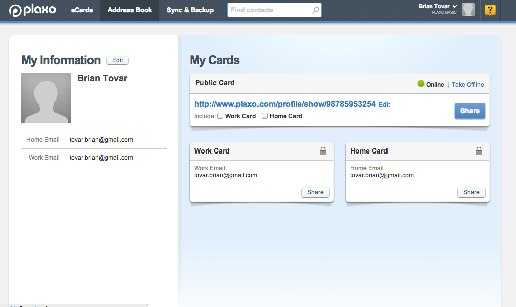 Plaxo Share Your Cards Work Email House Of Cards Cards