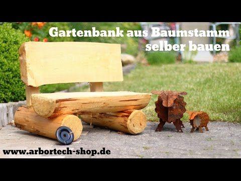 Holzbank Gartenbank selber bauen mit Arbortech Turboplane - gartenbank selber bauen