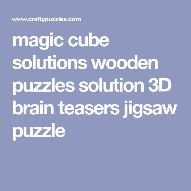 3d Magic Cube Solutions