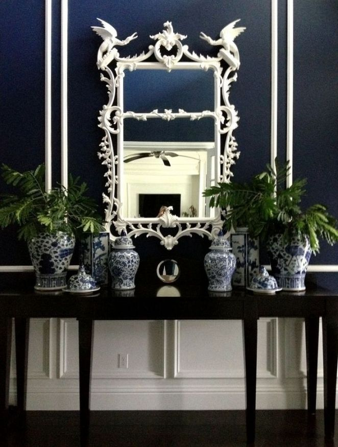 Blue and White Decorating Ideas with Hollywood