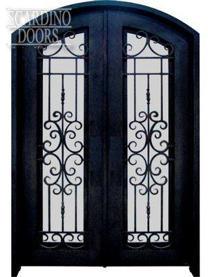 Custom Double Elliptical Top Wrought Iron English Abby Doors European Collection English Abby Doors with Segmented & Custom Double Elliptical Top Wrought Iron English Abby Doors ... pezcame.com