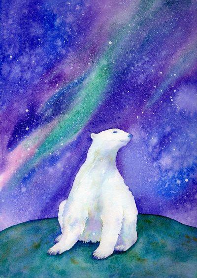 Polar Bear Art Print by Sandra Ovono | Society6