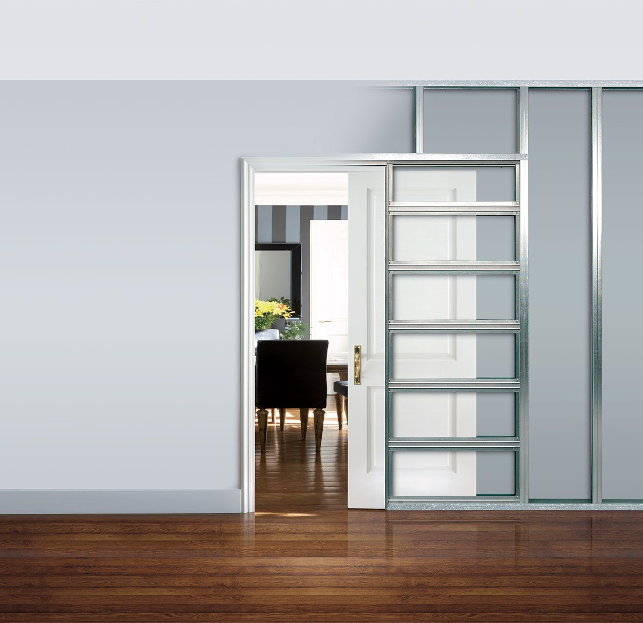 What Are Pocket Doors An Eclisse Sliding Pocket Door Is A System Of Building A Counter Frame Which Is Then Int Pocket Doors Sliding Pocket Doors Frames On Wall