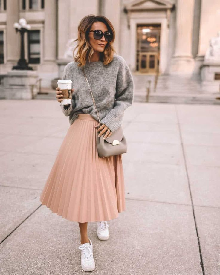 Weekly Outfit Round-Up | Karina Style Diaries #outfitideas #outfitinspo #midiskirt #sneakers