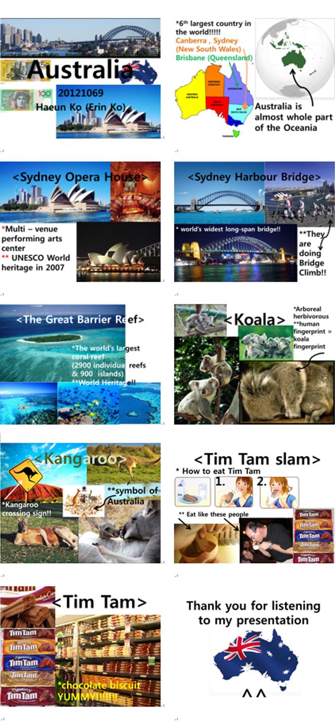 By. Haeun Ko my first ppt....... ppt,presentation,design about Australia i miss aussie