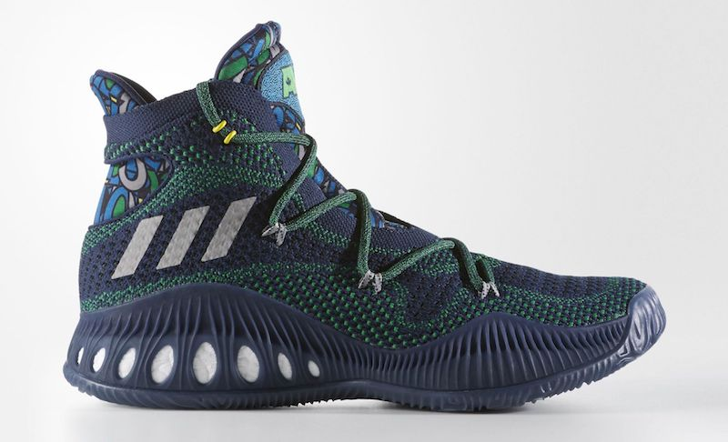 new arrivals 854b2 8335d adidas Crazy Explosive Andrew Wiggins Away PE Release Date. adidas Crazy  Explosive Andrew Wiggins Away PE in Collegiate NavyMedium Grey-Green drops  in Nov.
