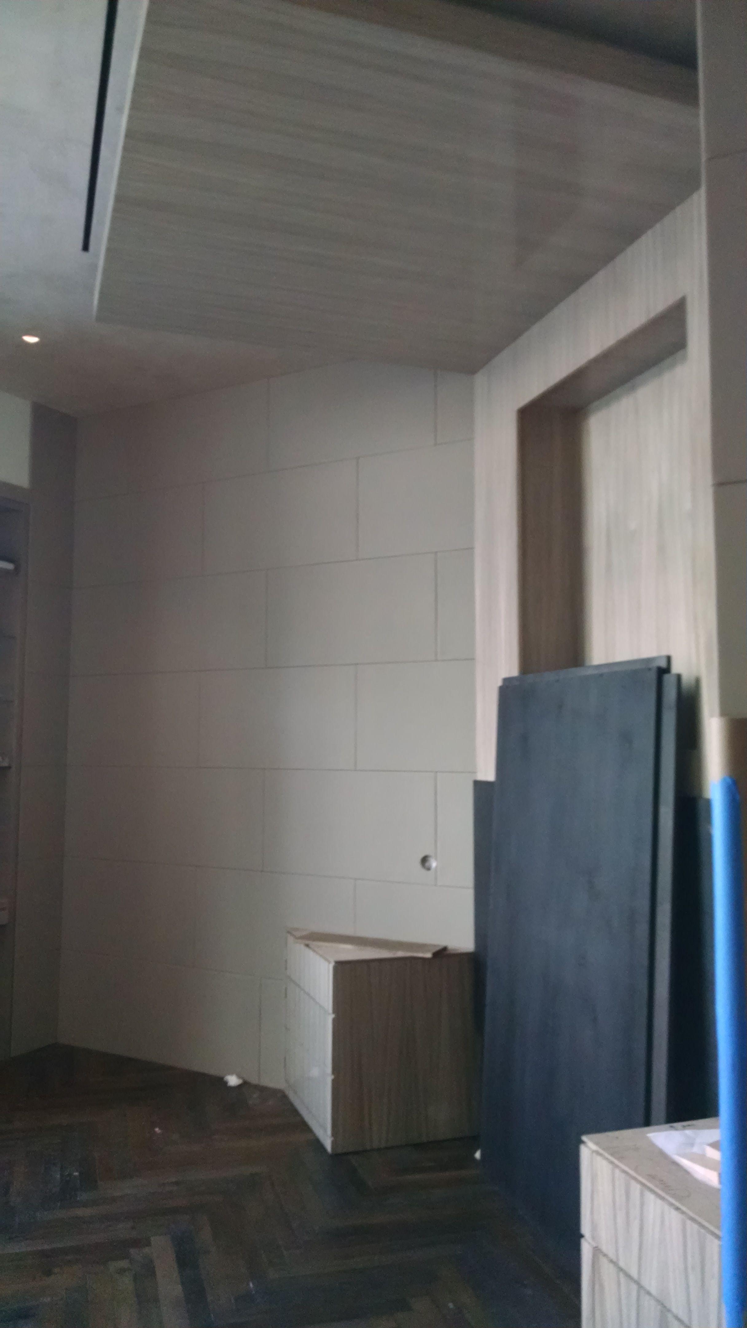 Los Angeles San Go Leather Grey Paneled Walls In Brick Pattern
