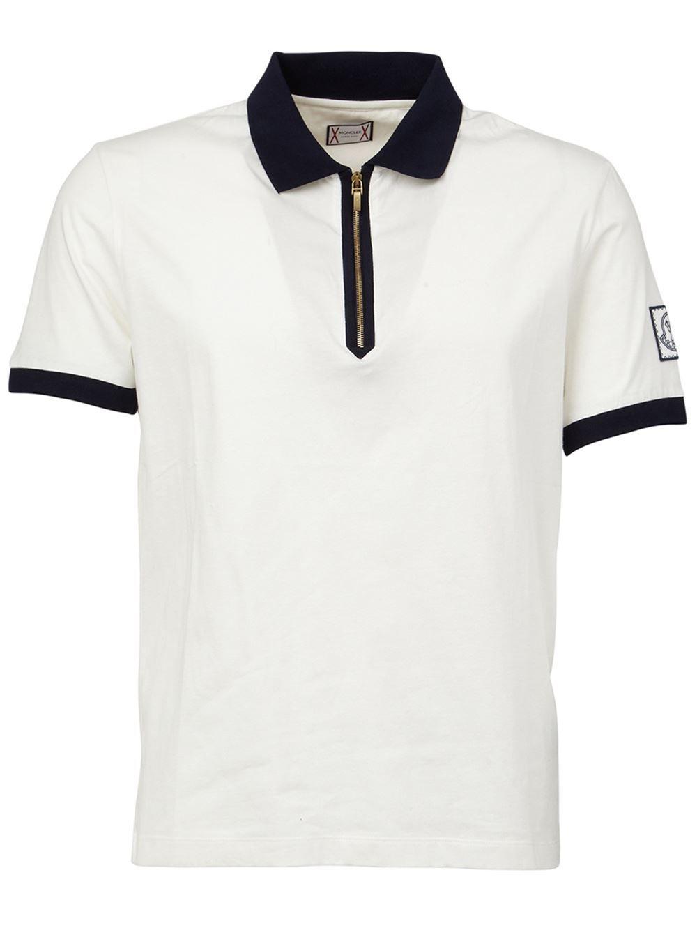 b6e8e3db04c Moncler Gamme Bleu zip polo shirt
