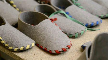Hausschuhe Selber Nähen lasso shoes hausschuhe aus filz sewing random