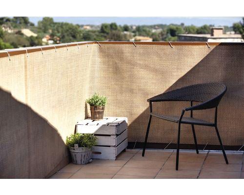 balkonbespannung rattan 300 x 90 cm, walnuss kaufen bei hornbach,