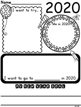 Happy New Year 2020 Activities {Booklets, Writing, Craft