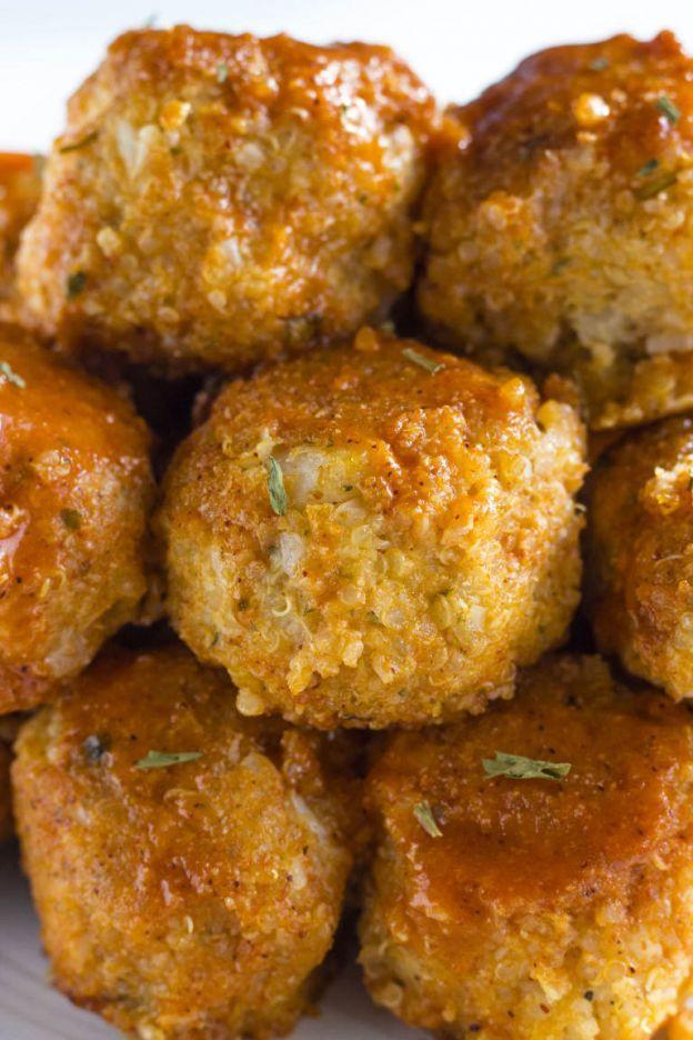 Boulettes De Chou Fleur Et De Quinoa A La Sauce Buffalo Recette