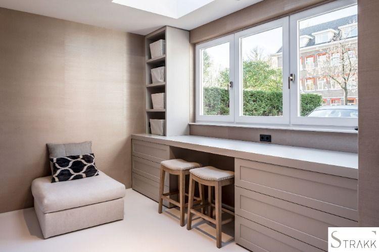Moderne inbouwkast van mdf gelakte deurpanelen wooninspiratie