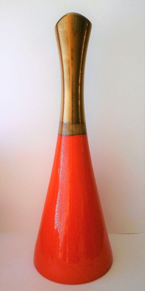 Unique Mid Century Design Destinos Sa Portugal Orange 22 34 Tall