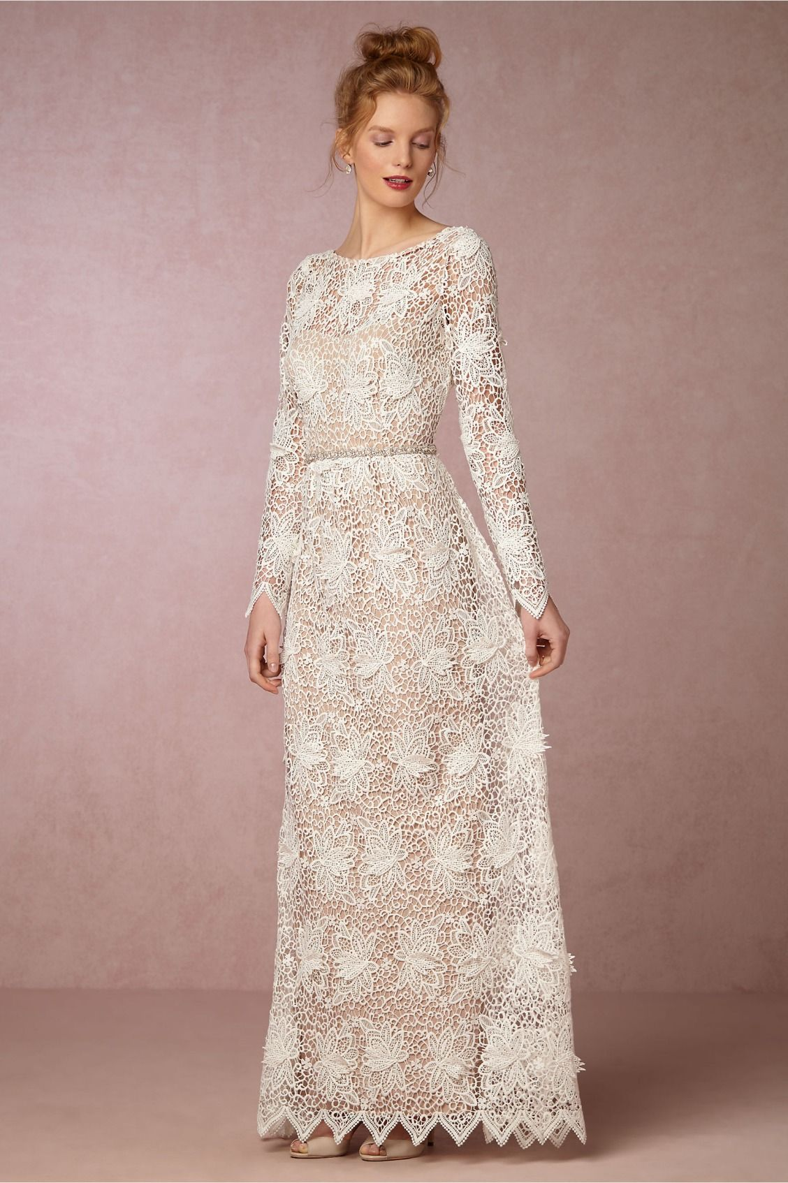 Lace dress for wedding  whimsical graphic lace  Landry Dress from BHLDN  that dress
