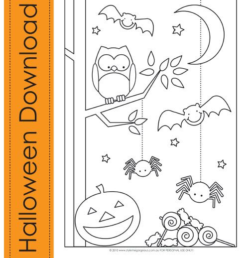 Adorable Halloween Colouring Page Simple Not At All Scary Halloween Coloring Halloween Coloring Pages Coloring Pages