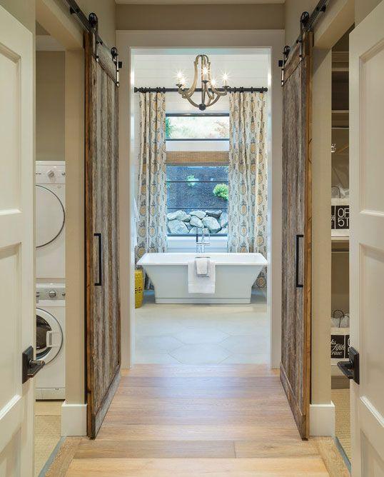 63 Awesome Sliding Barn Door Ideas Master Bathroom Design House Home