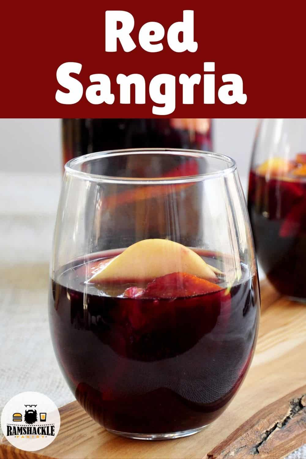 A Classic Red Sangria Recipe And It Will Be The Only One You Will Ever Need This Is Tasty Easy And True To The Drink S Sangria Recipes Easy Sangria Recipes