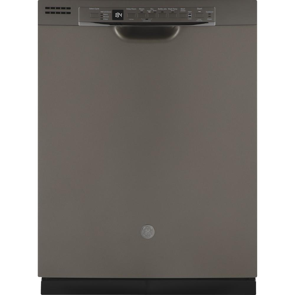 Ge 24 In Front Control Built In Tall Tub Dishwasher In Slate With Third Rack Fingerprint Resistant 50 Dba Built In Dishwasher Dishwasher Tub
