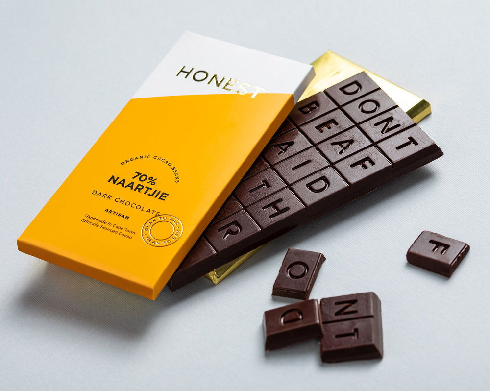 Honest Chocolate Stands Out With Brightly Colored Packaging