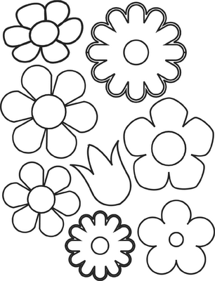 photo about Printable Flowers Templates called verschillende soorten bloemen Flower Templates Flower