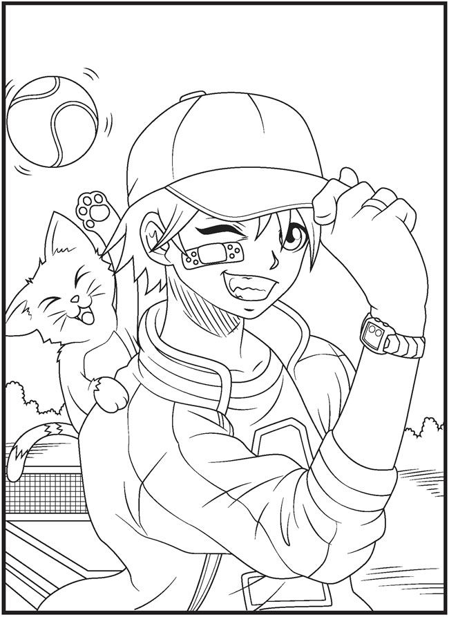 Manga Boys Coloring Book Dover Publications | Coloring pages 2nd ...