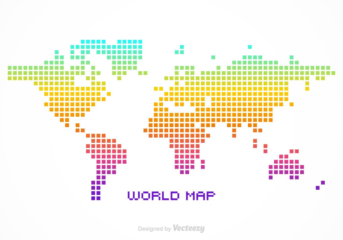 Free vector colorful silhouette of a world map created in pixel free vector colorful silhouette of a world map created in pixel design gumiabroncs Choice Image