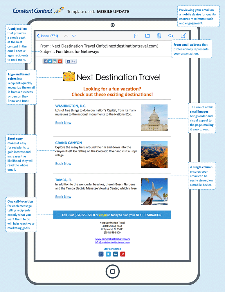 Email Example For Travel Services Remind Your Customers That They