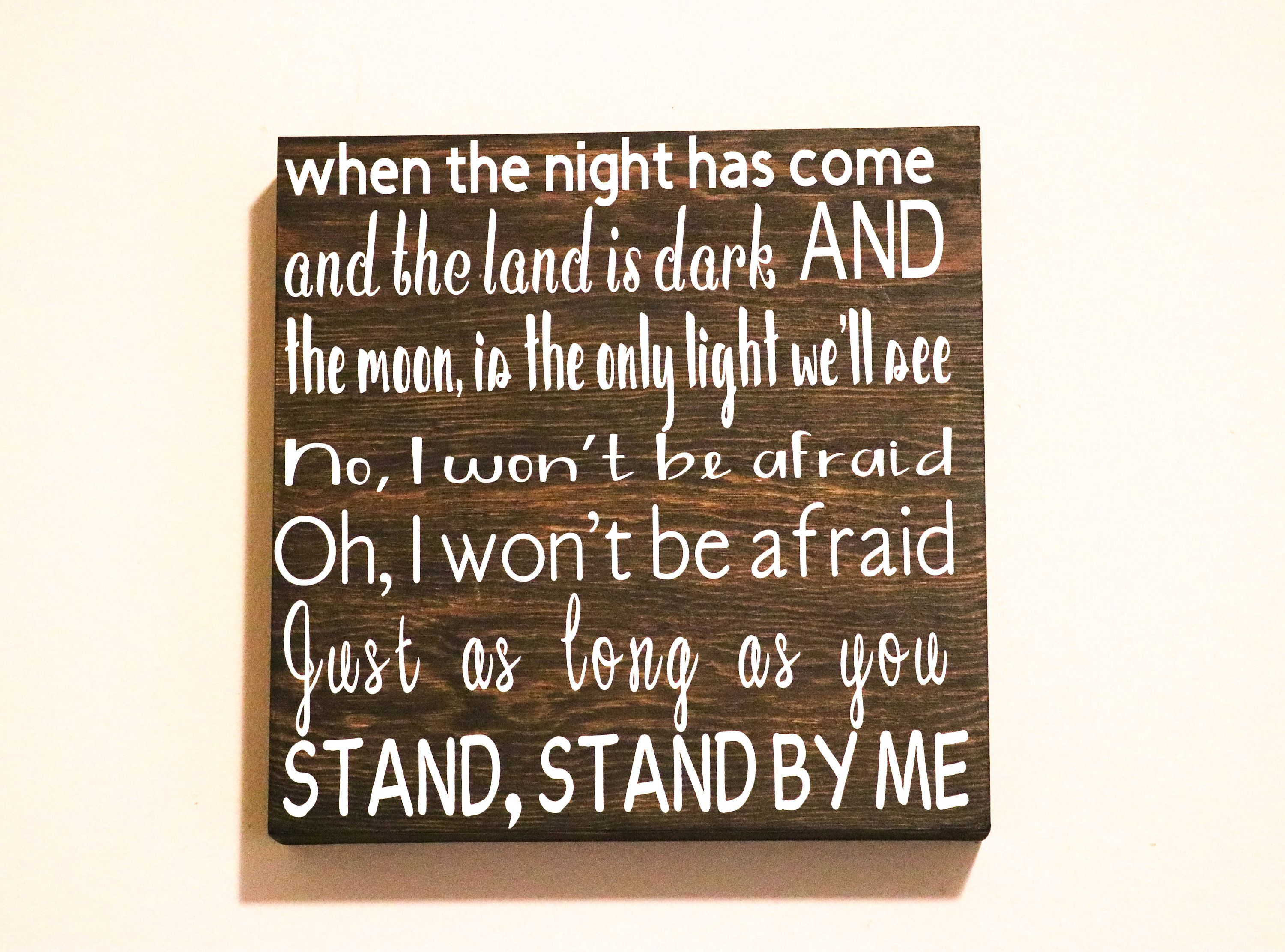 Stand By Me Song Lyric Sign John Lennon Lyric Sign Stand By Me