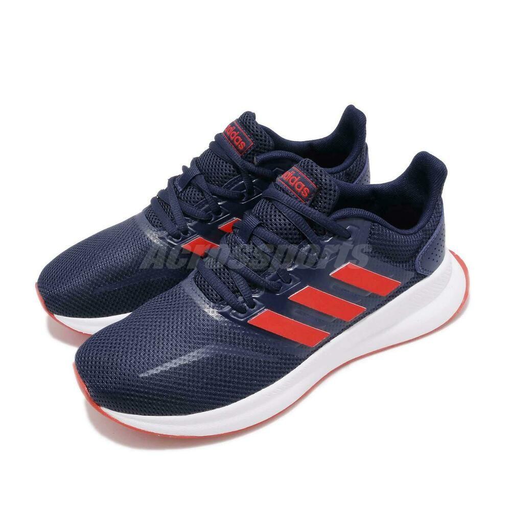 b3719596bcf (eBay Sponsored) adidas RunFalcon K Dark Blue Red White Kid Women Running  Shoes Sneakers