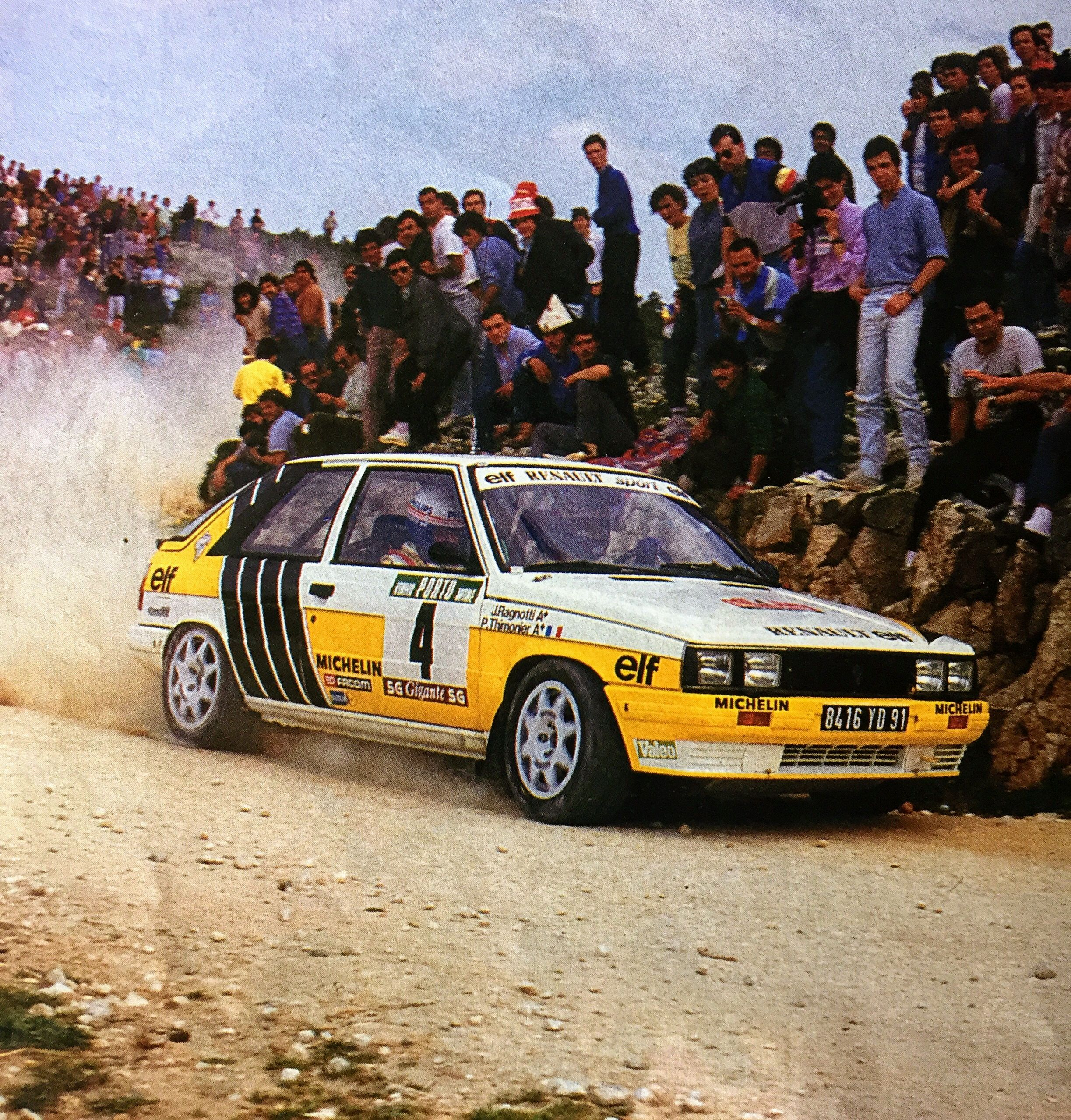 Renault Race Car: Renault 11 Turbo Gr.A Jean Ragnotti Pierre Thimonier Rally