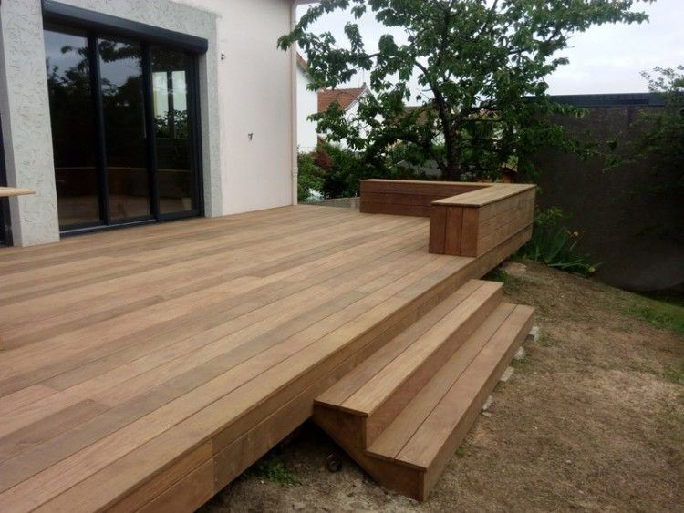 Terrasse Bois Ipe A Basse Goulaine Franklin Homes Yard Design