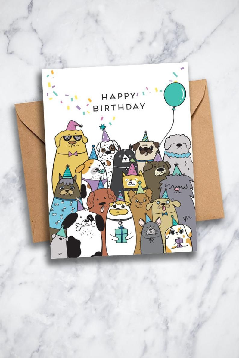 Happy Birthday from All of Us Greeting Card Printable