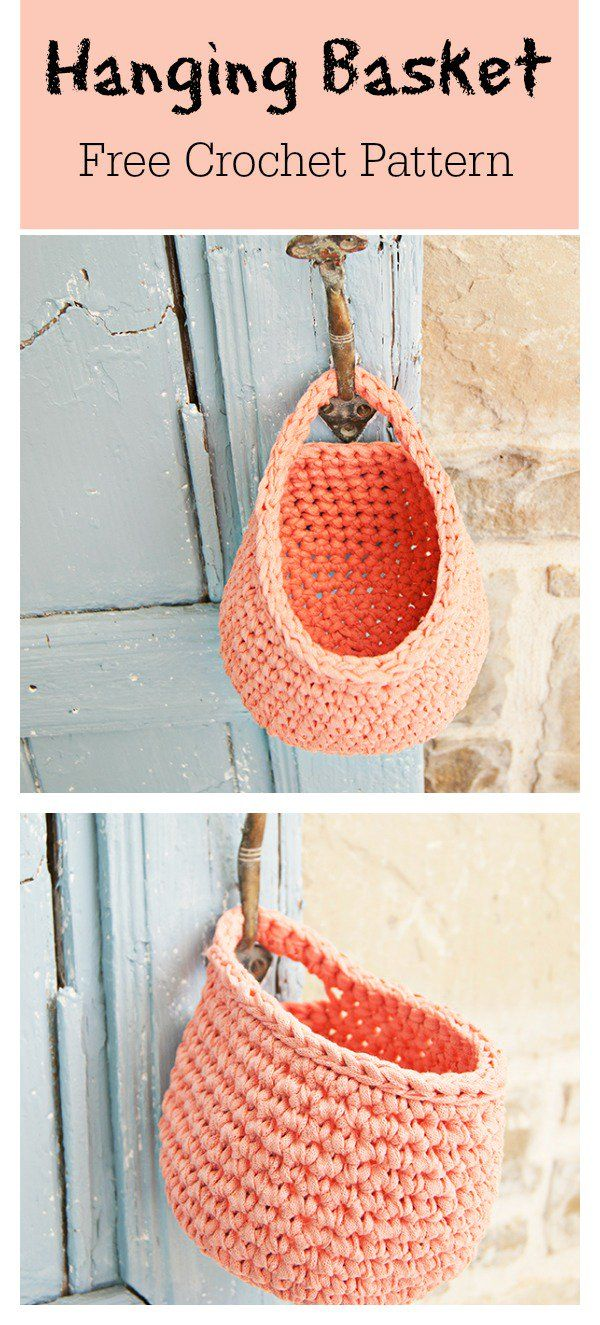 Hanging Basket Free Crochet Pattern | Crochet--Baskets | Pinterest ...