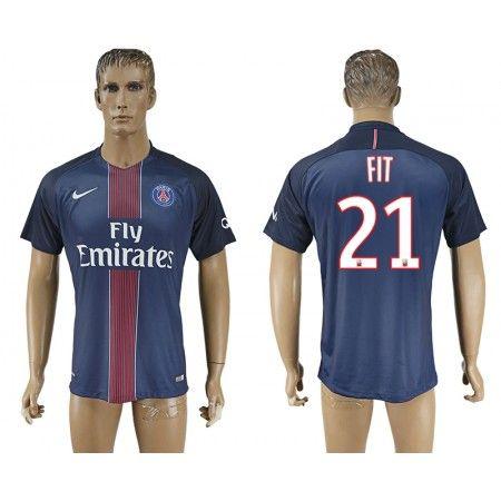 PSG 16-17 #Fit 21 Hjemmebanetrøje Kort ærmer,208,58KR,shirtshopservice@gmail.com