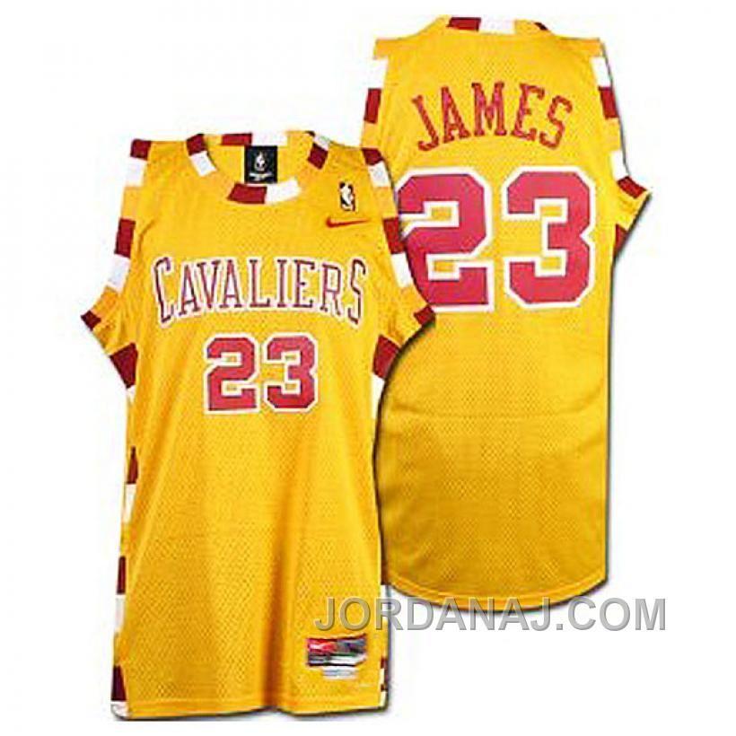LeBron James Cleveland Cavaliers #23 Hardwood Classic Throwback Yellow  Jersey, Price: $89.00 - Air Jordan Shoes, 2016 New Jordan Shoes, Michael  Jordan Shoes