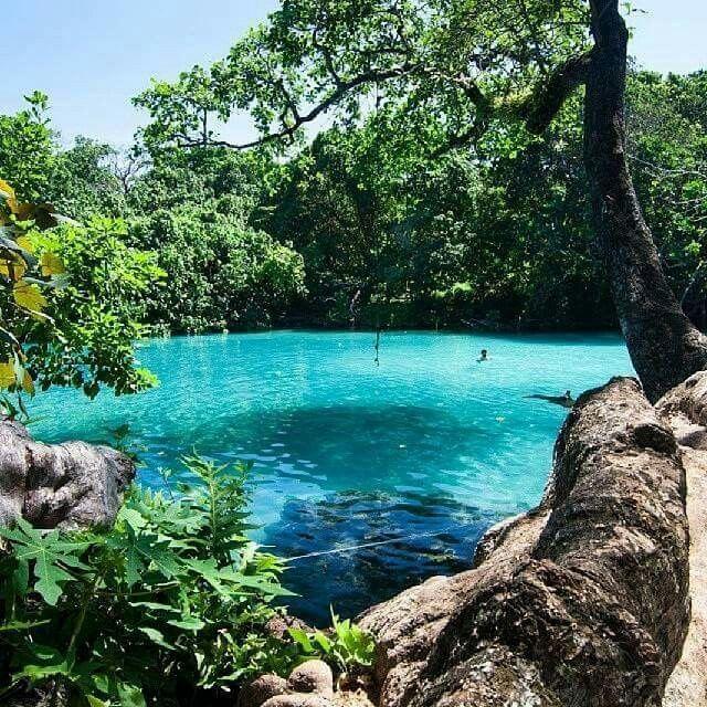 Blue lagoon. Jamaica