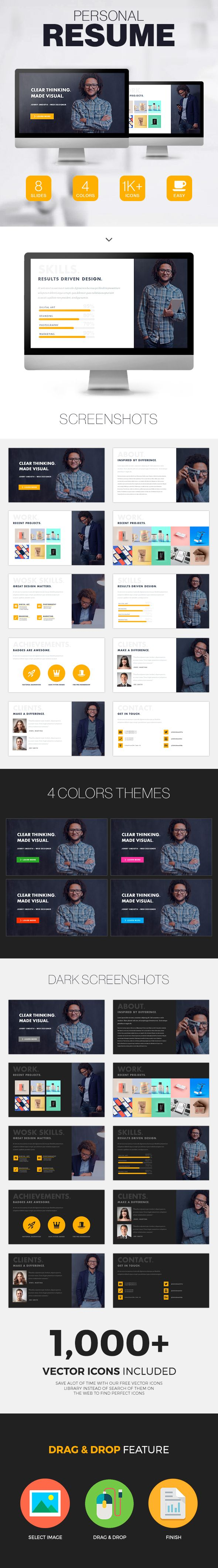Personal Resume  Powerpoint Presentation  Powerpoint Templates