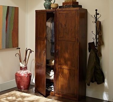 Coat Closet Armoire Foter Entryway Furniture Wall