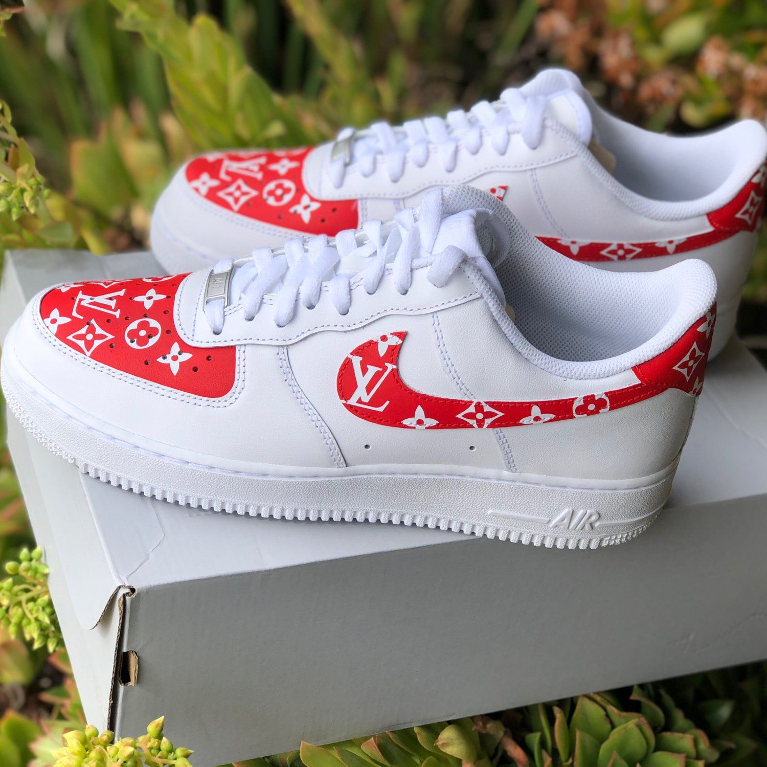 "Air Force 1 ""Supreme Louis Vuitton"" (with front and back"
