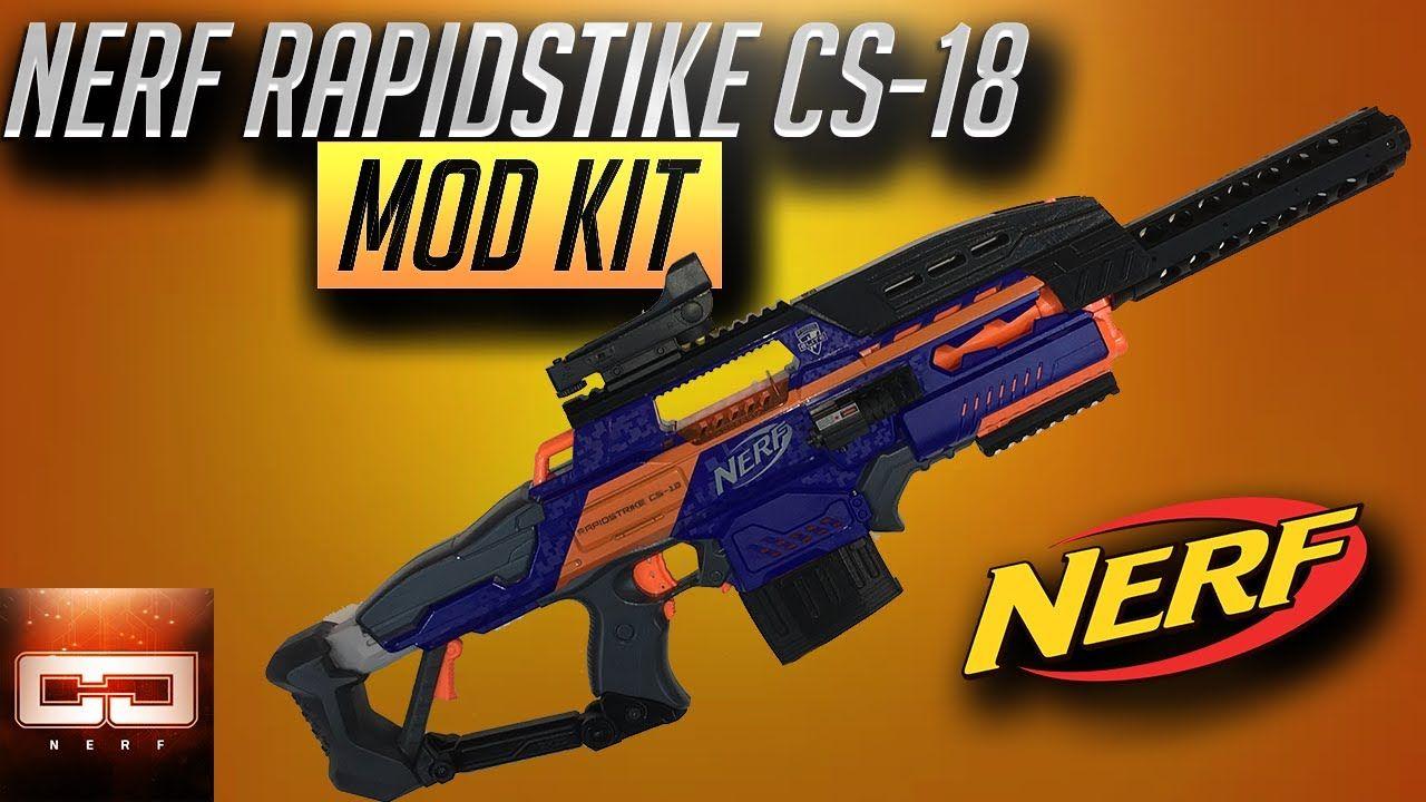 Nerf Rapidstrike CS-18 Mod Kit | Nerf guns | Nerf mod, Nerf, Kit