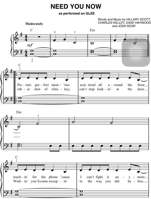 need you now lady antebellum piano music | Sheet Music, Tips ...