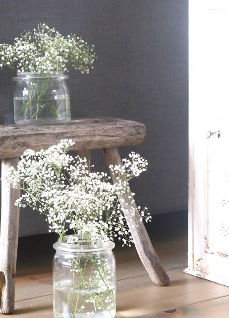 G style gipskruid in weckpotten huis pinterest decoratie planten en bloemen - Oude huisdecoratie ...